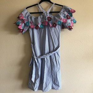 Nwt loft striped floral dress Xs